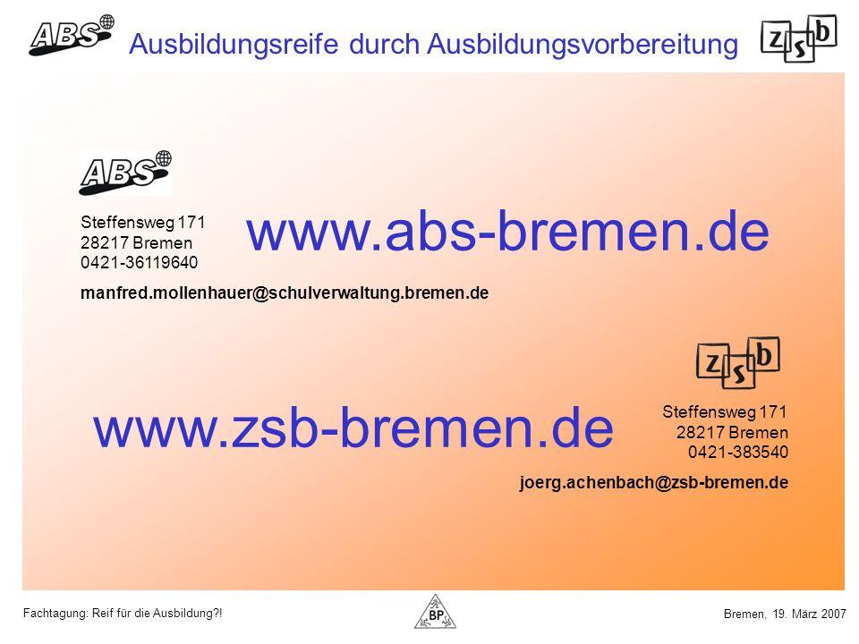 www.abs-bremen.de www.zsb-bremen.de