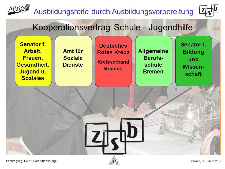 Kooperationsvertrag Schule - Jugendhilfe
