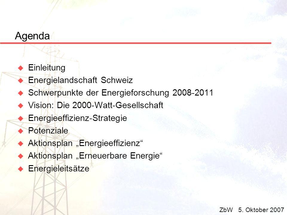 Agenda Einleitung Energielandschaft Schweiz