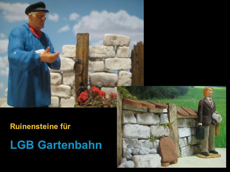Ruinensteine für LGB Gartenbahn