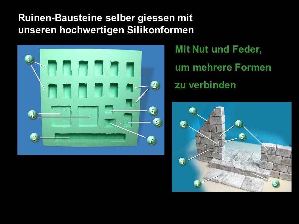Ruinen-Bausteine selber giessen mit unseren hochwertigen Silikonformen