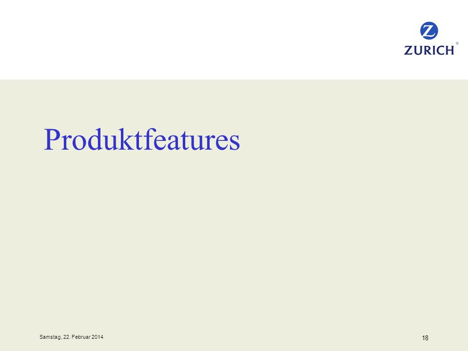 Produktfeatures