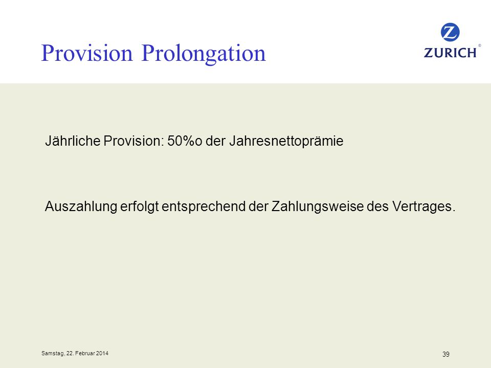 Provision Prolongation