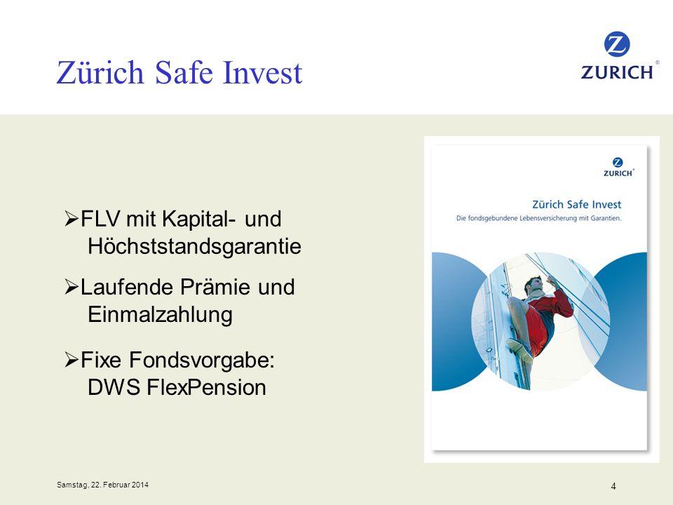 Zürich Safe Invest FLV mit Kapital- und Höchststandsgarantie