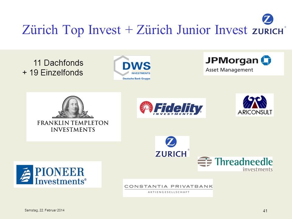 Zürich Top Invest + Zürich Junior Invest