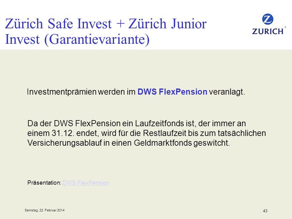 Zürich Safe Invest + Zürich Junior Invest (Garantievariante)