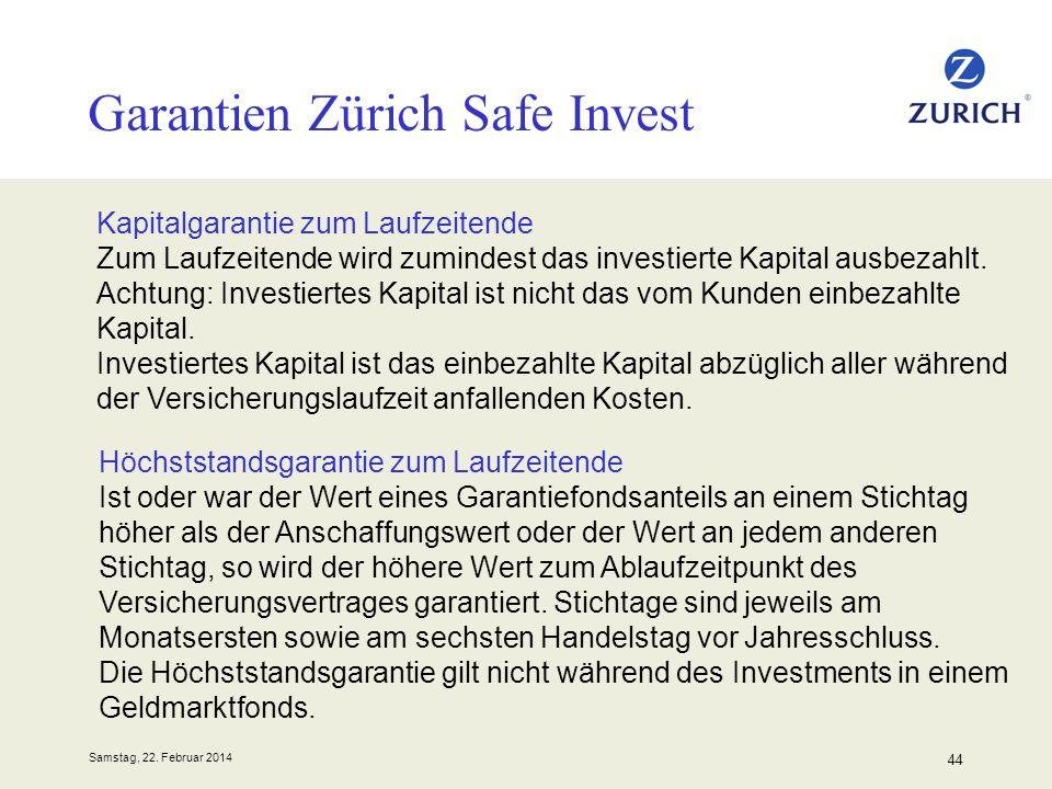 Garantien Zürich Safe Invest