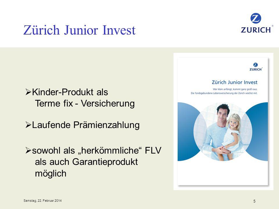 Zürich Junior Invest Kinder-Produkt als Terme fix - Versicherung