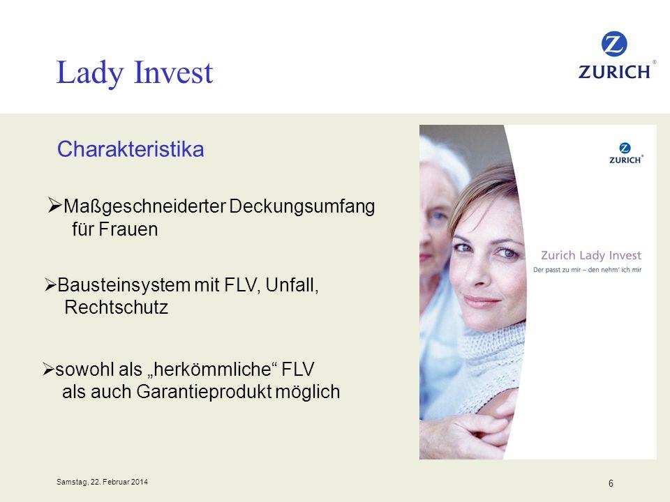 Lady Invest Charakteristika Maßgeschneiderter Deckungsumfang