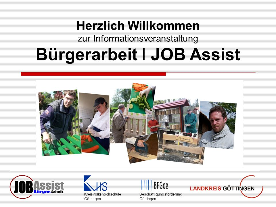 Bürgerarbeit I JOB Assist