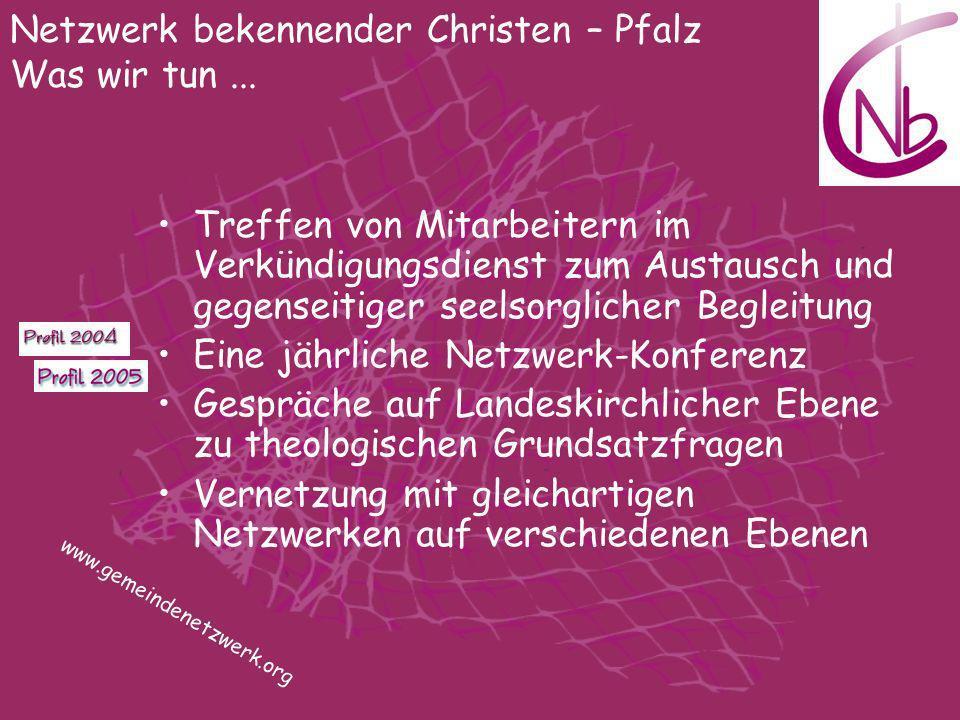 Netzwerk bekennender Christen – Pfalz Was wir tun ...