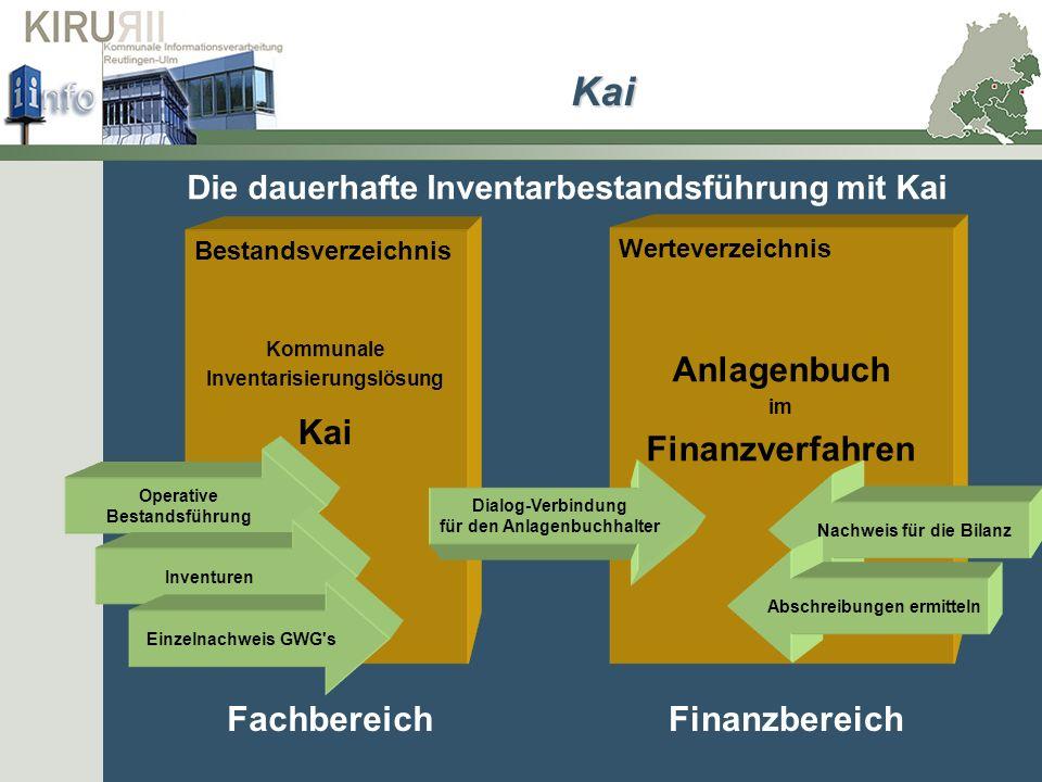 Kai Kai Anlagenbuch Finanzverfahren Fachbereich Finanzbereich