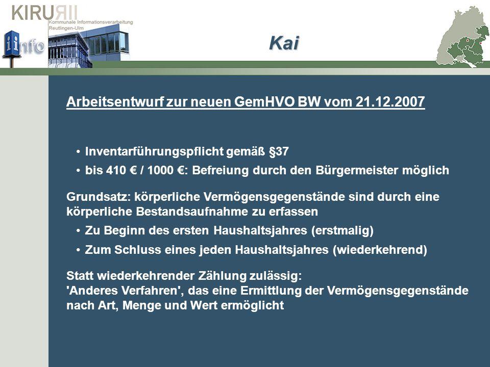 Kai Inventarführungspflicht gemäß §37