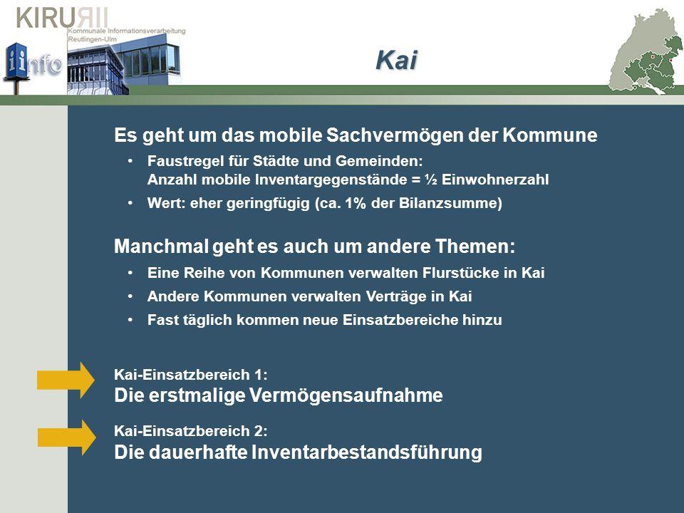 Kai Es geht um das mobile Sachvermögen der Kommune