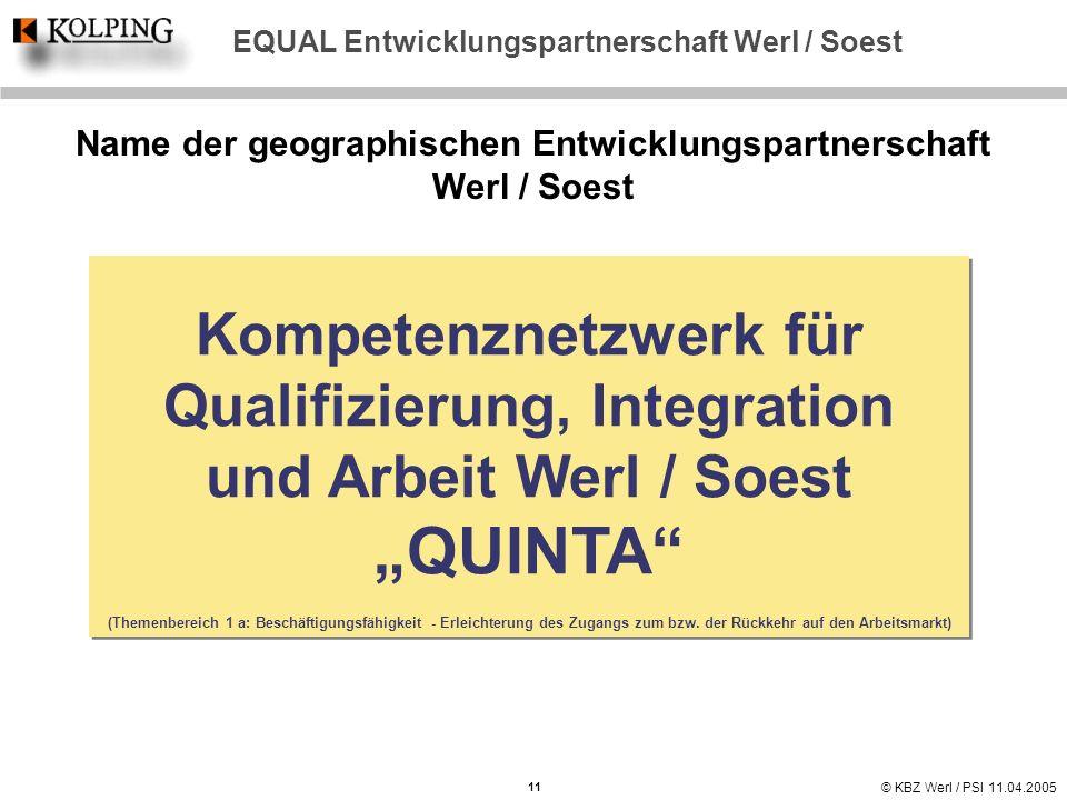 EQUAL Entwicklungspartnerschaft Werl / Soest