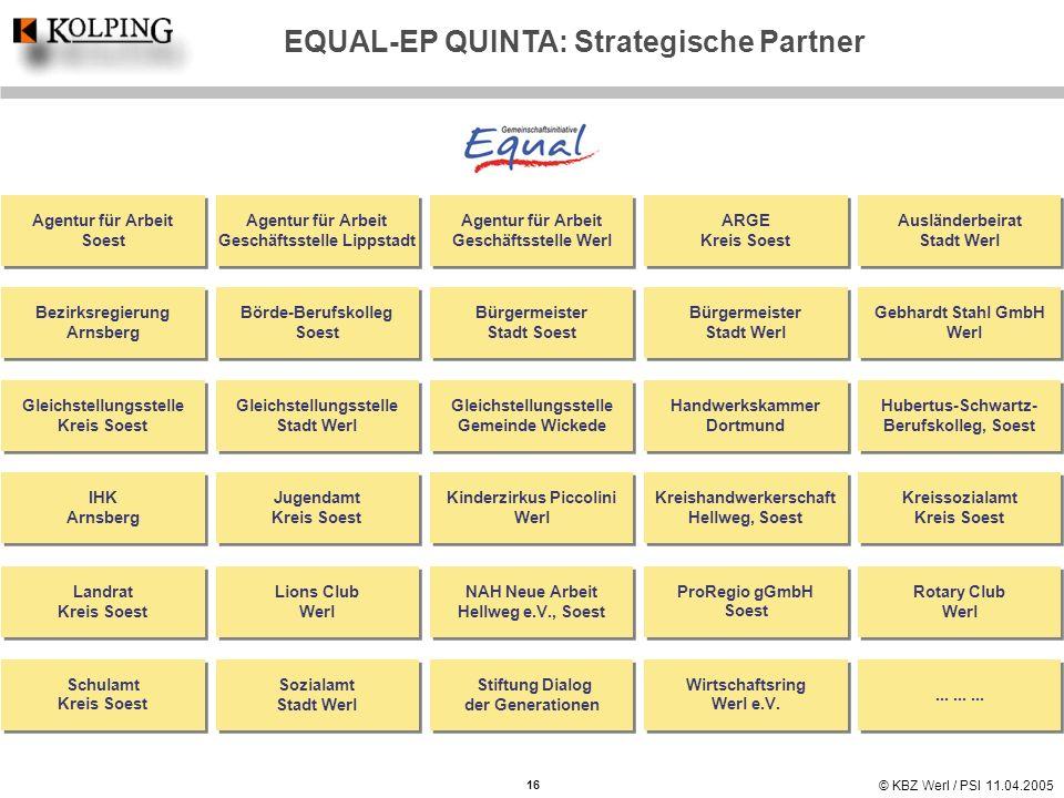 EQUAL-EP QUINTA: Strategische Partner