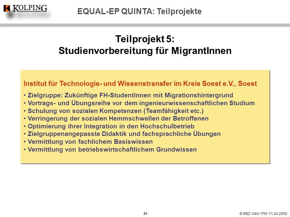 Teilprojekt 5: Studienvorbereitung für MigrantInnen
