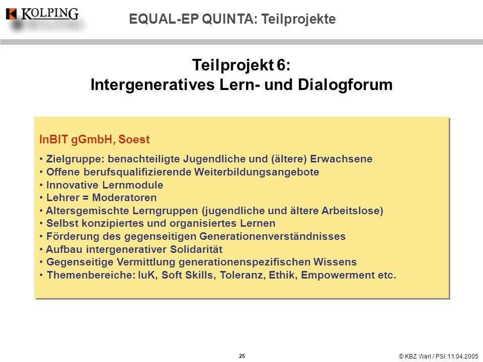 Teilprojekt 6: Intergeneratives Lern- und Dialogforum