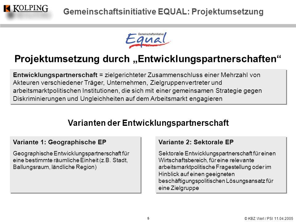 "Projektumsetzung durch ""Entwicklungspartnerschaften"