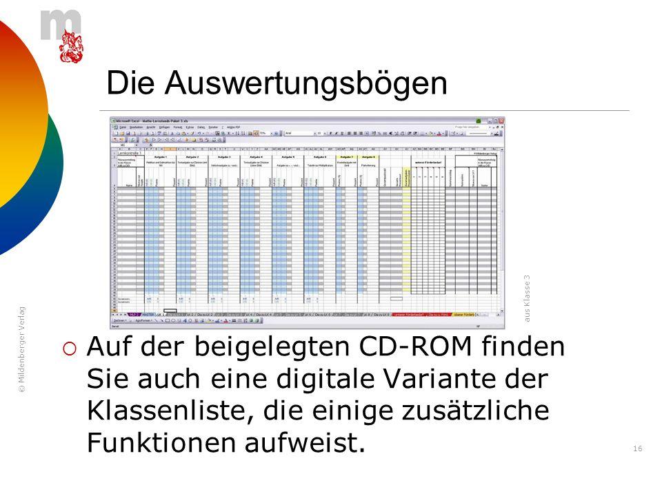 Die Auswertungsbögen aus Klasse 3.