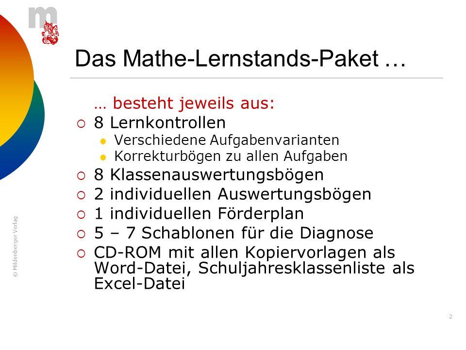 Das Mathe-Lernstands-Paket …
