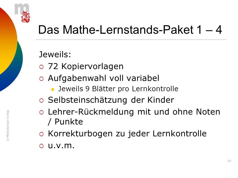 Das Mathe-Lernstands-Paket 1 – 4