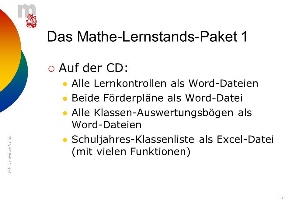 Das Mathe-Lernstands-Paket 1