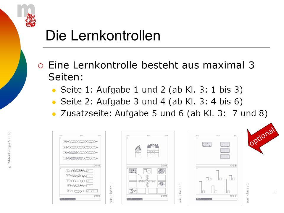 Die Lernkontrollen Eine Lernkontrolle besteht aus maximal 3 Seiten: