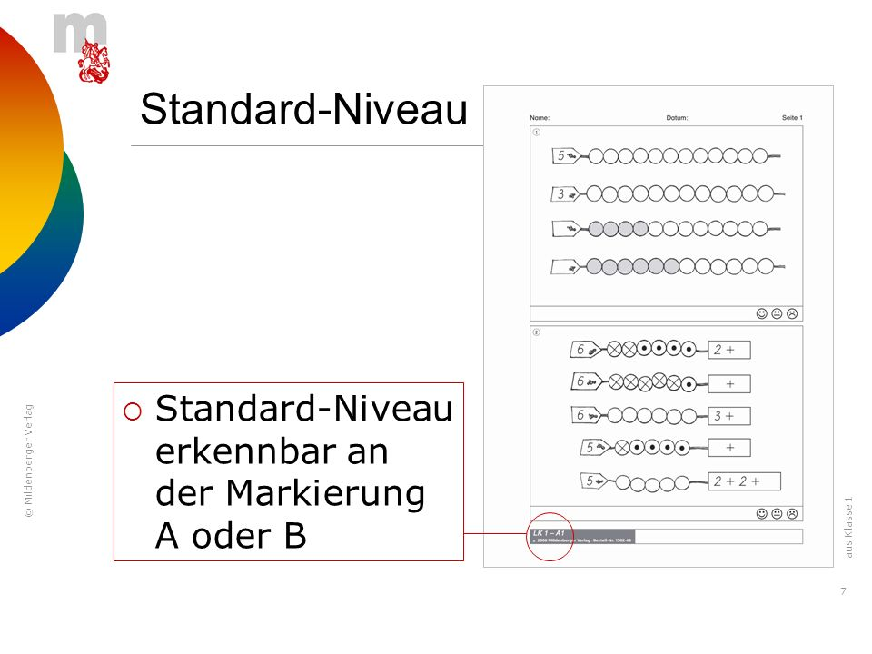 Standard-Niveau Standard-Niveau erkennbar an der Markierung A oder B