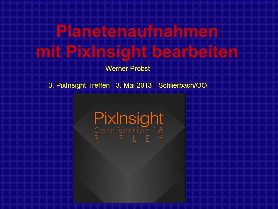 Planetenaufnahmen mit PixInsight bearbeiten