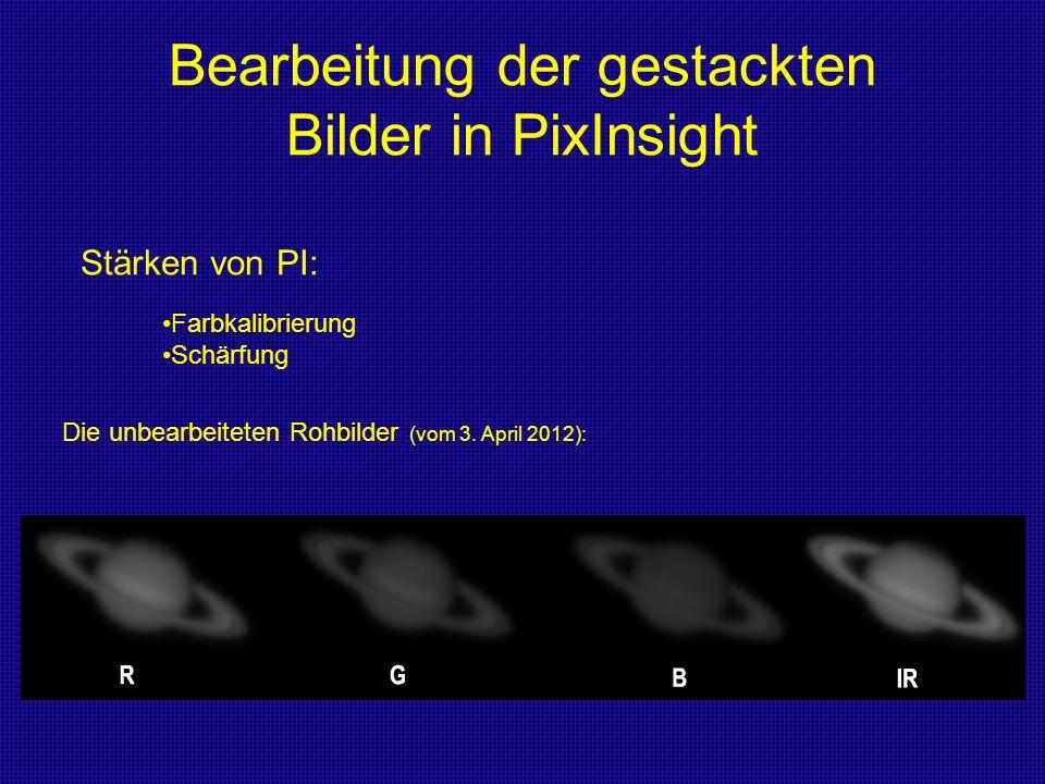 Bearbeitung der gestackten Bilder in PixInsight