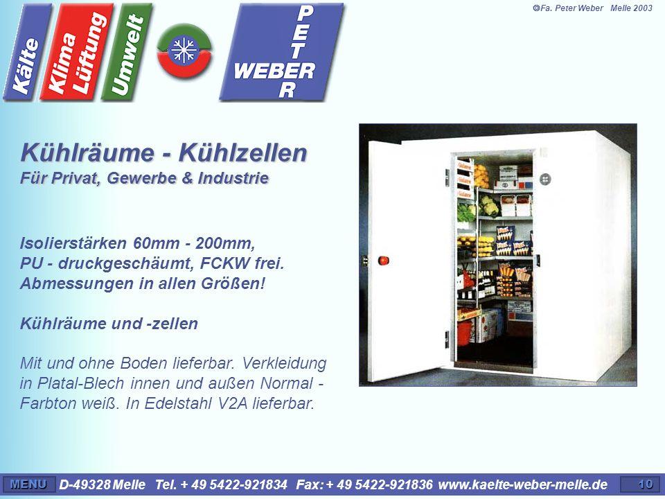 Kühlräume - Kühlzellen Für Privat, Gewerbe & Industrie