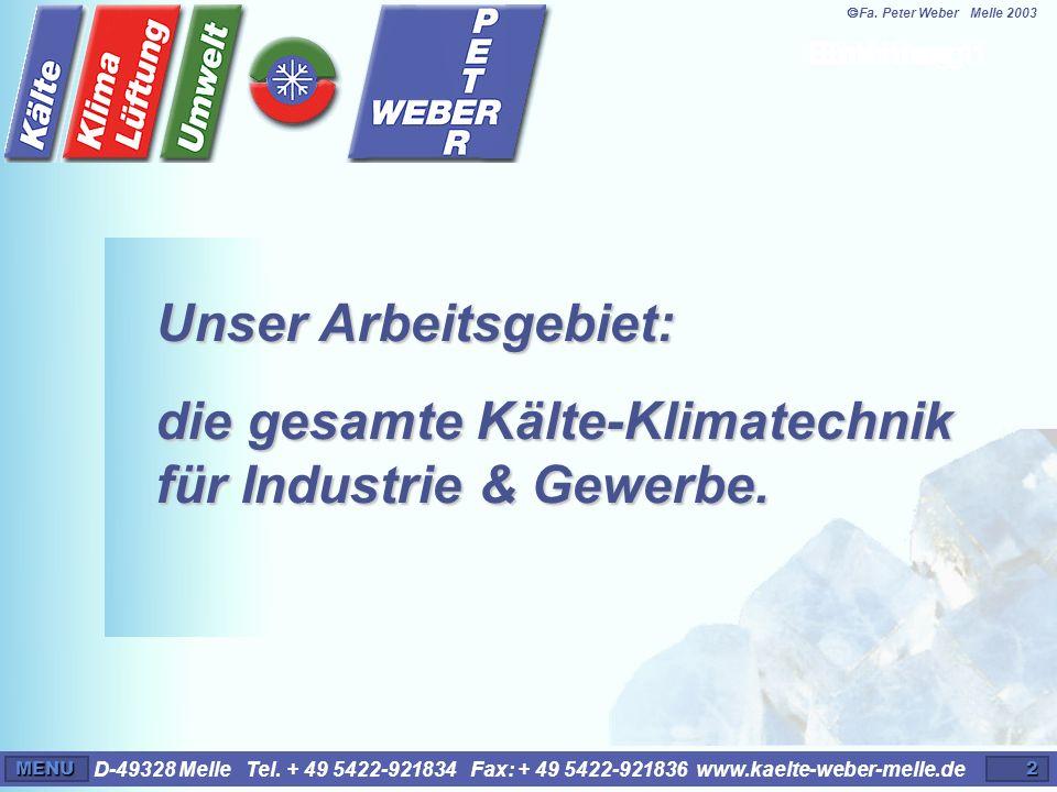 ã Fa. Peter Weber Melle 2003 Einleitung 1. Einleitung 1.