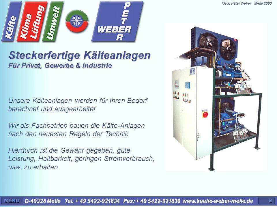 Steckerfertige Kälteanlagen Für Privat, Gewerbe & Industrie