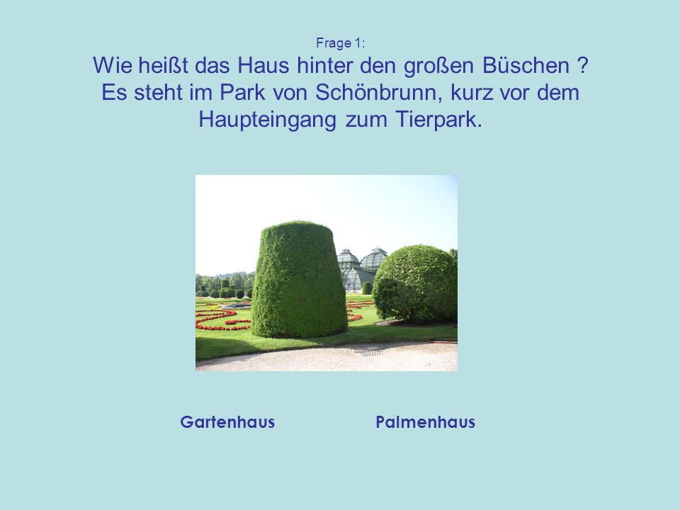Gartenhaus Palmenhaus