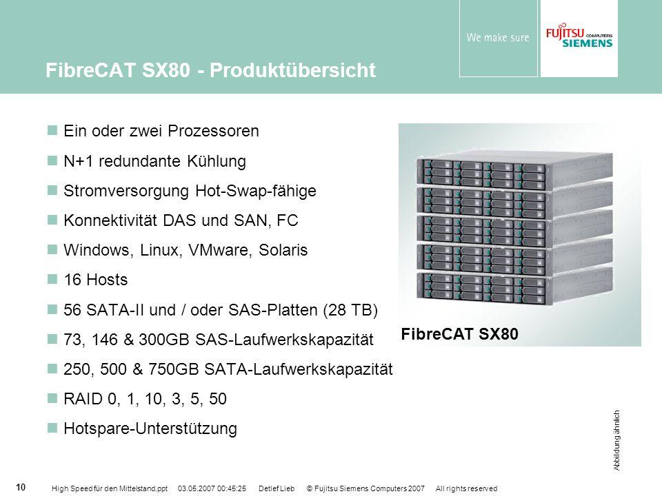 FibreCAT SX80 - Produktübersicht