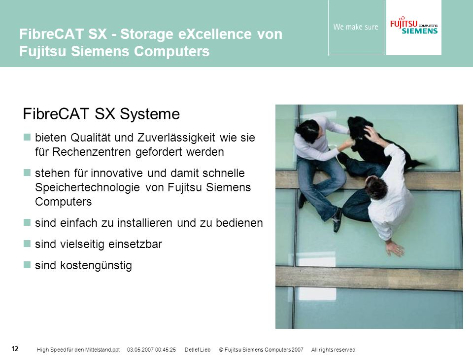 FibreCAT SX - Storage eXcellence von Fujitsu Siemens Computers