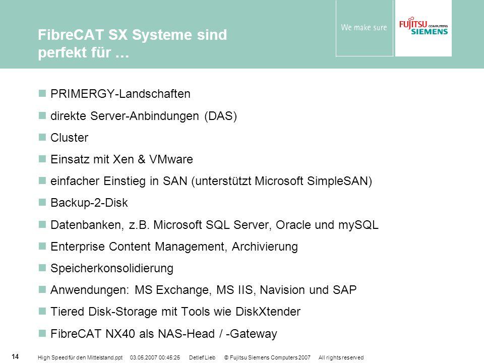 FibreCAT SX Systeme sind perfekt für …
