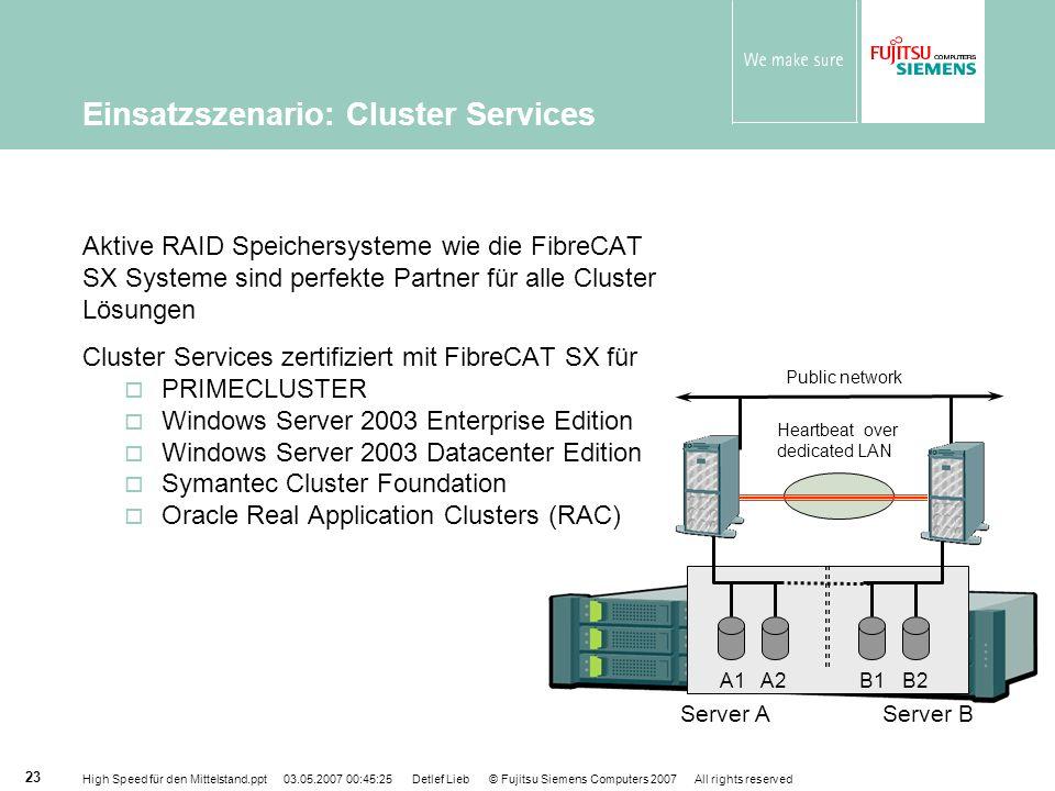 Einsatzszenario: Cluster Services