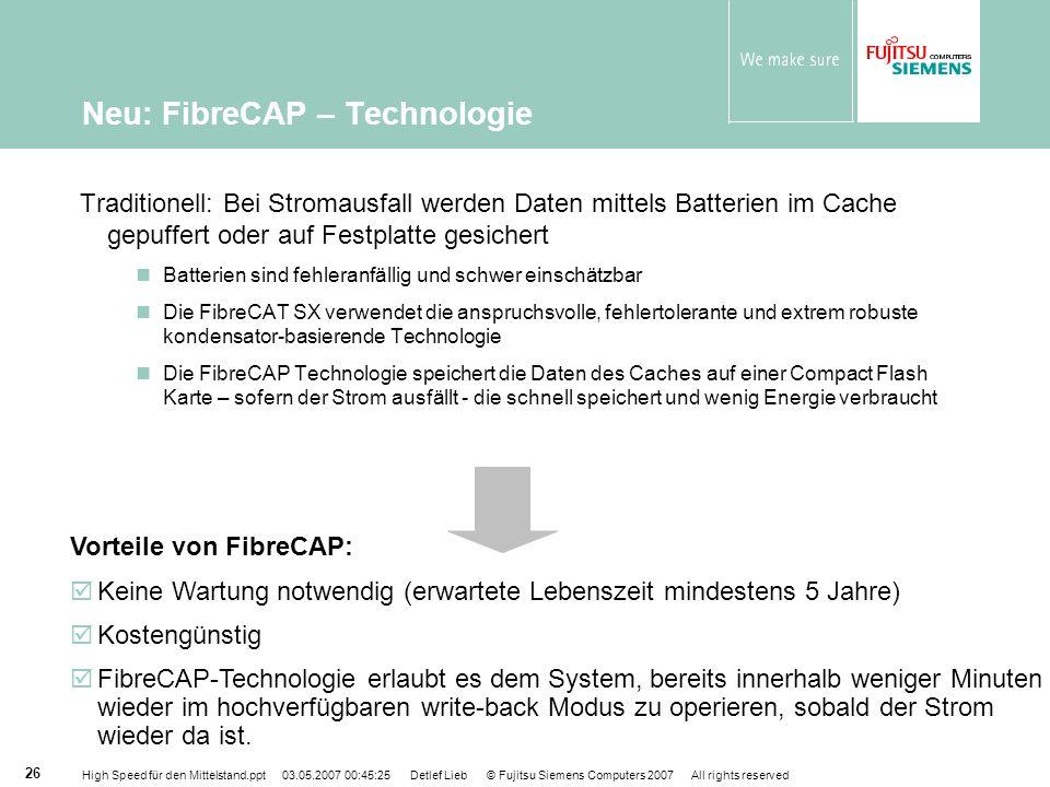 Neu: FibreCAP – Technologie