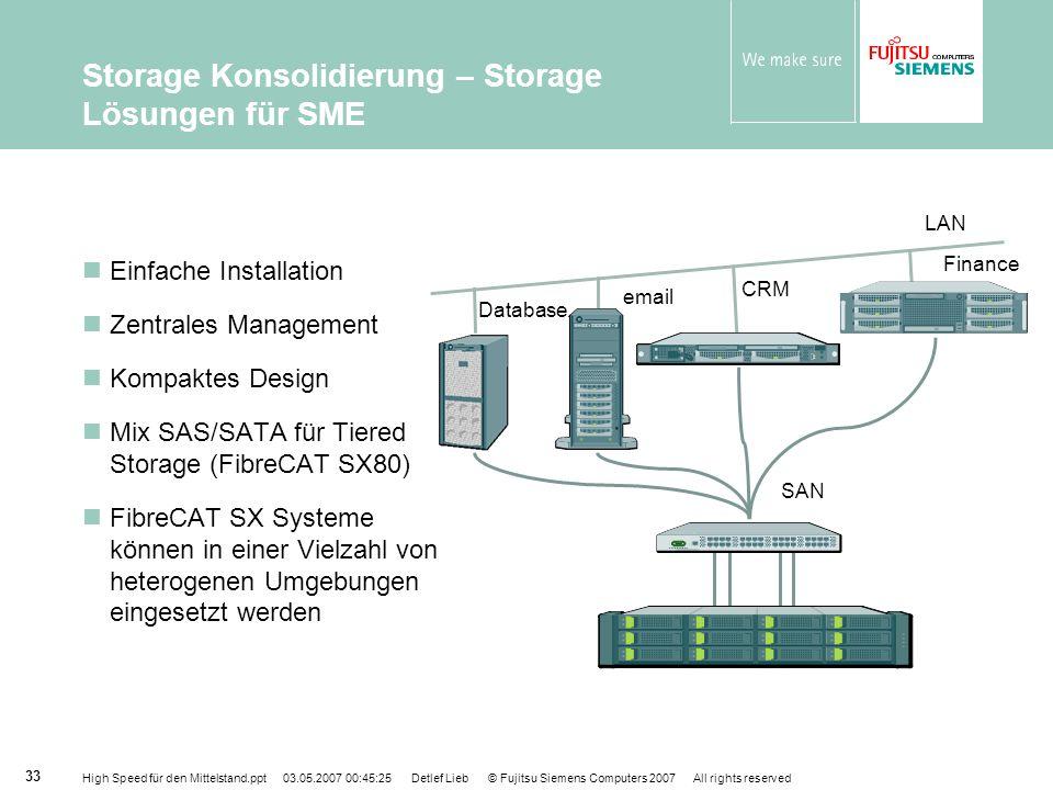 Storage Konsolidierung – Storage Lösungen für SME