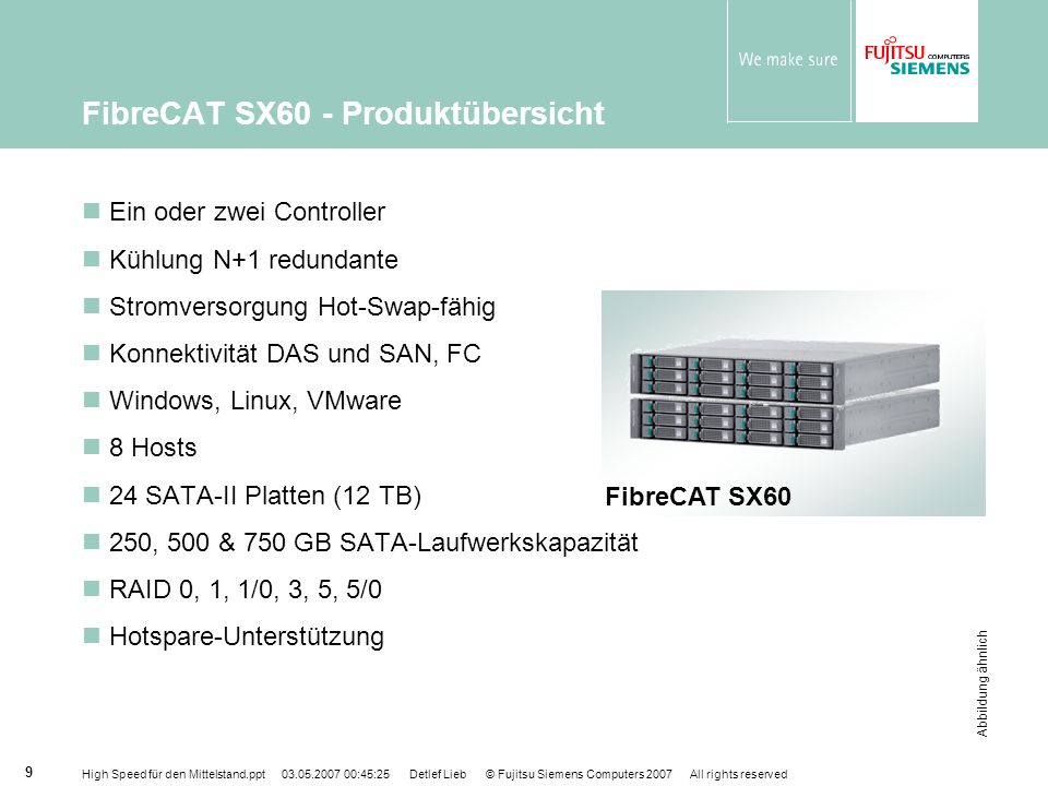 FibreCAT SX60 - Produktübersicht
