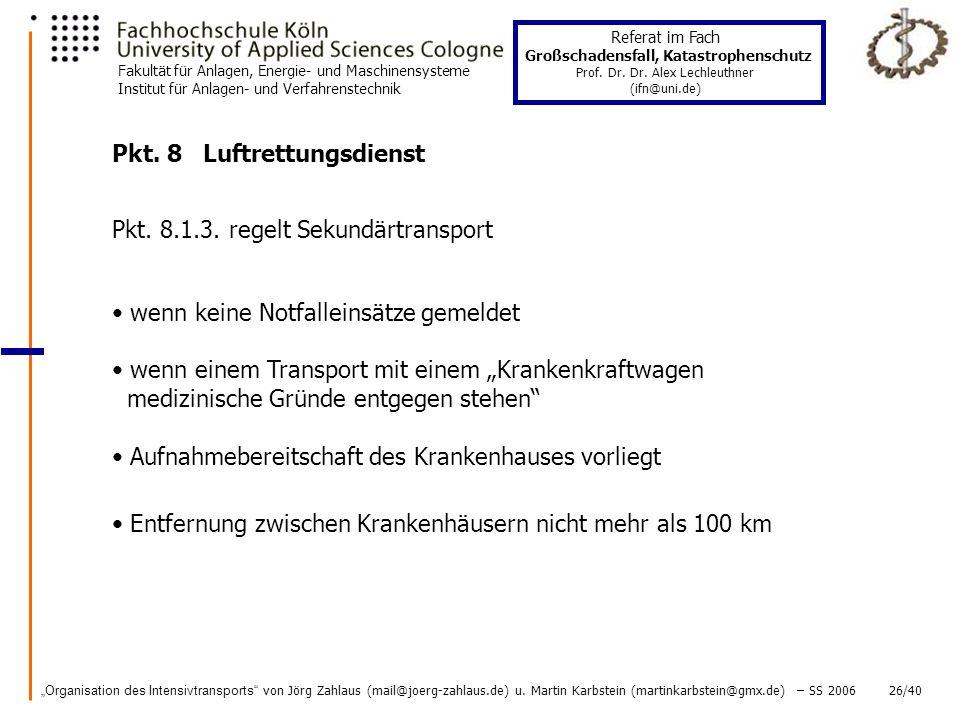 Pkt. 8 Luftrettungsdienst