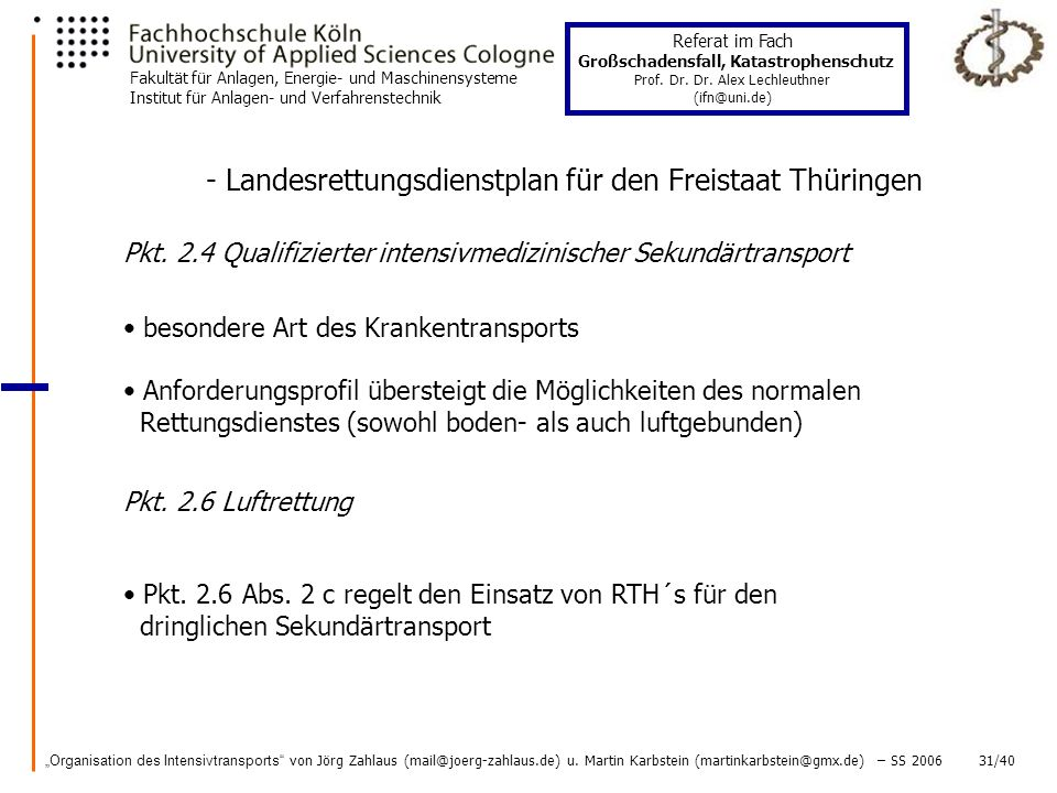 - Landesrettungsdienstplan für den Freistaat Thüringen