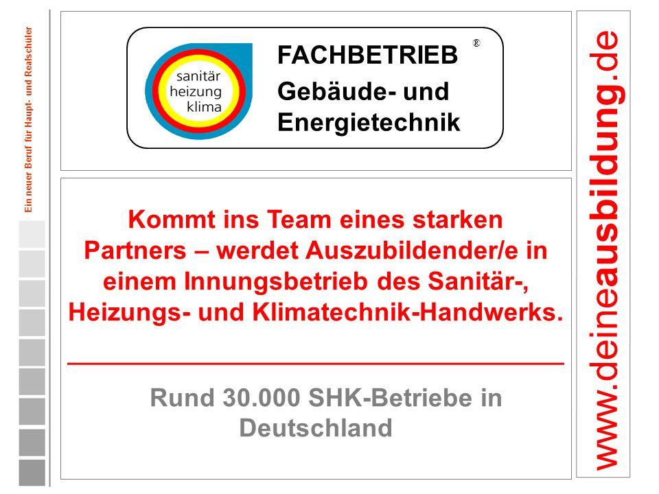 Rund 30.000 SHK-Betriebe in Deutschland
