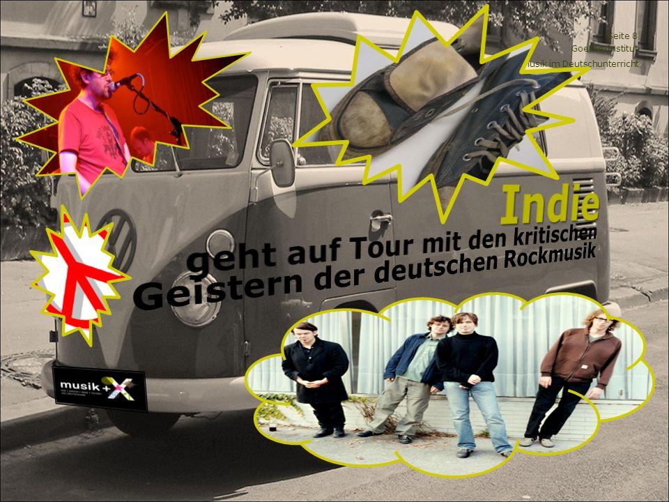 Indie geht auf Tour mit den kritischen Geistern der deutschen Rockmusik