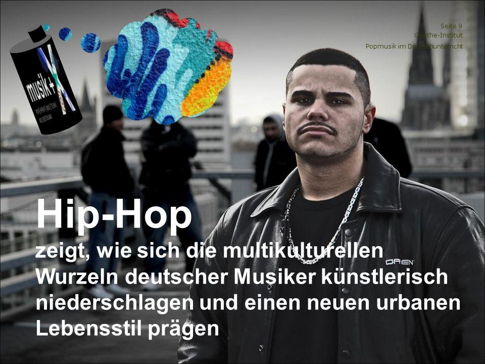 Hip-Hop zeigt, wie sich die multikulturellen Wurzeln deutscher Musiker künstlerisch niederschlagen und einen neuen urbanen Lebensstil prägen