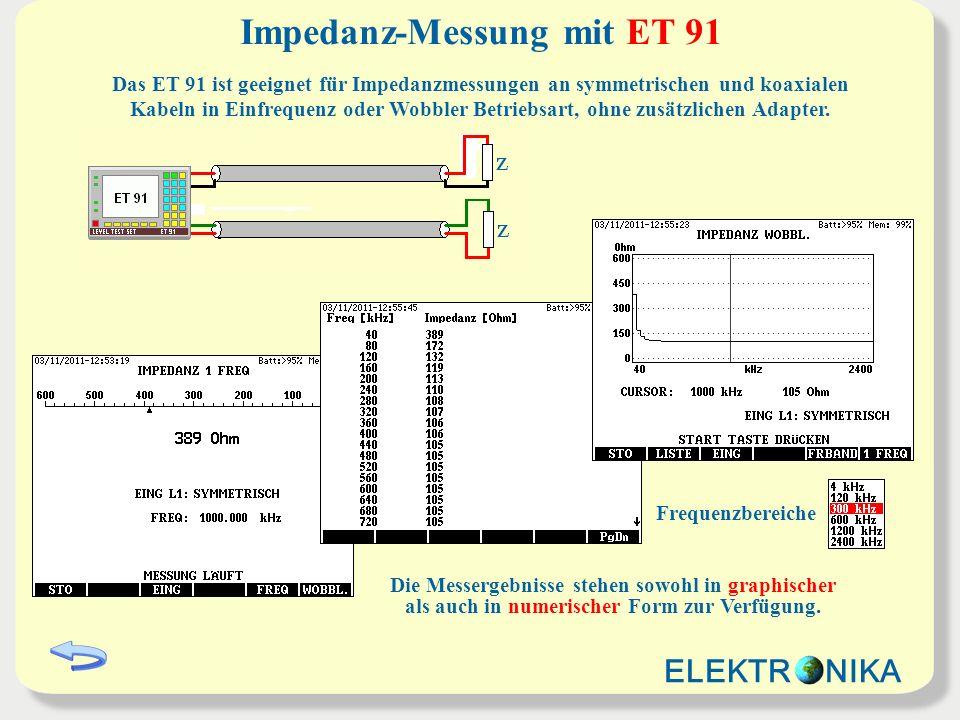 Impedanz-Messung mit ET 91