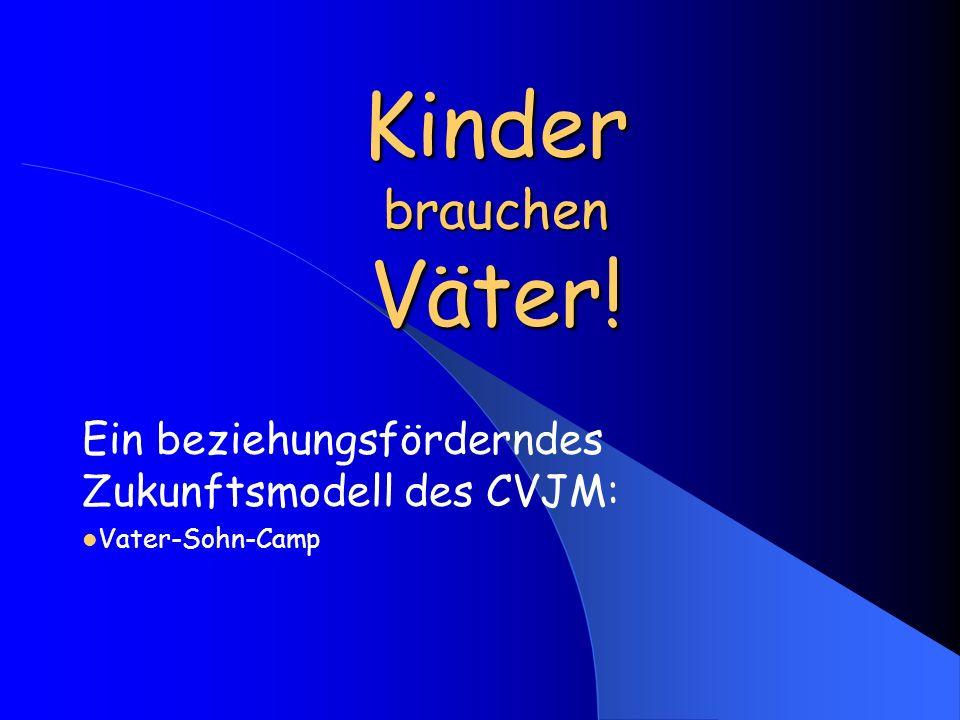 Ein beziehungsförderndes Zukunftsmodell des CVJM: Vater-Sohn-Camp