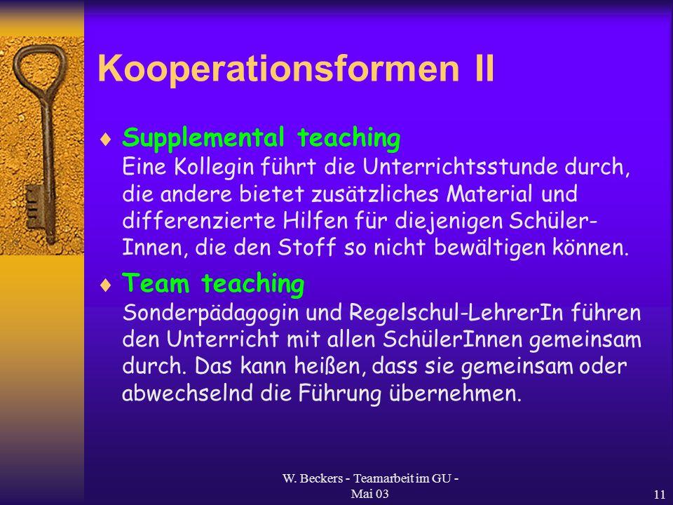 Kooperationsformen II